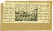 Gent: verdwenen Dekstraat ( rue des Couvreurs) Hoek Heuvelstraat nu Overpoort, Sint-Amandsstraat en Kunstlaan
