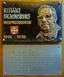 Gedenkplaat - Juliaan Brakeleirs