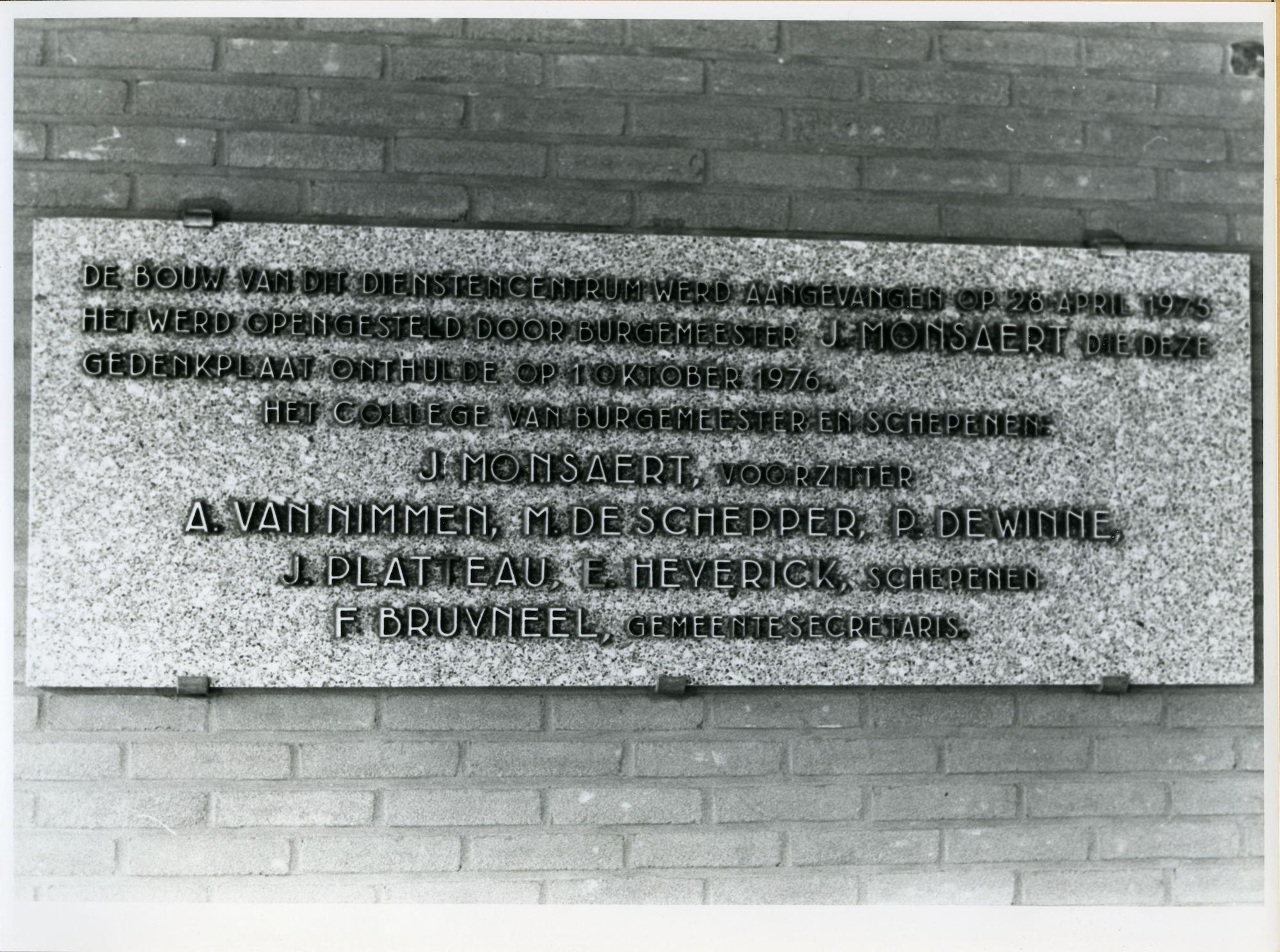 Sint-Amandsberg: Antwerpsesteenweg 154-156: Gedenksteen