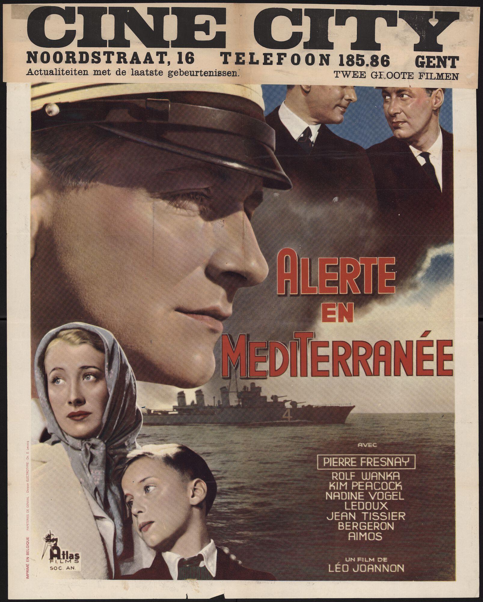 Alerte en Mediterranée, Cine City, Gent, september 1939