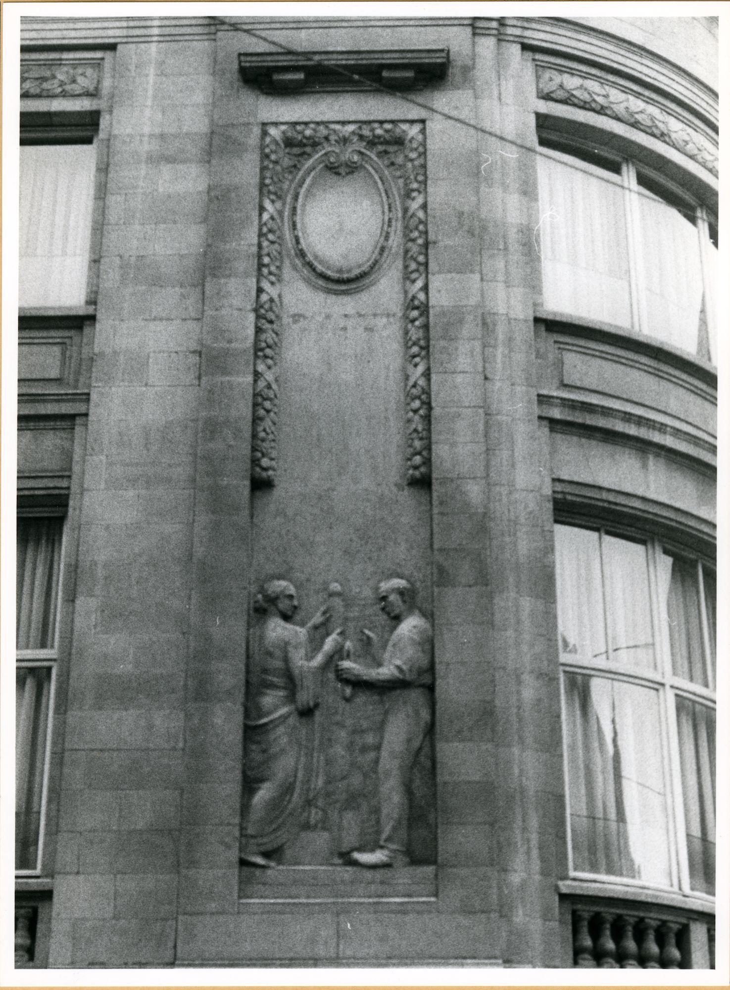 Gent: Voldersstraat 1: Beeldhouwwerk, 1979