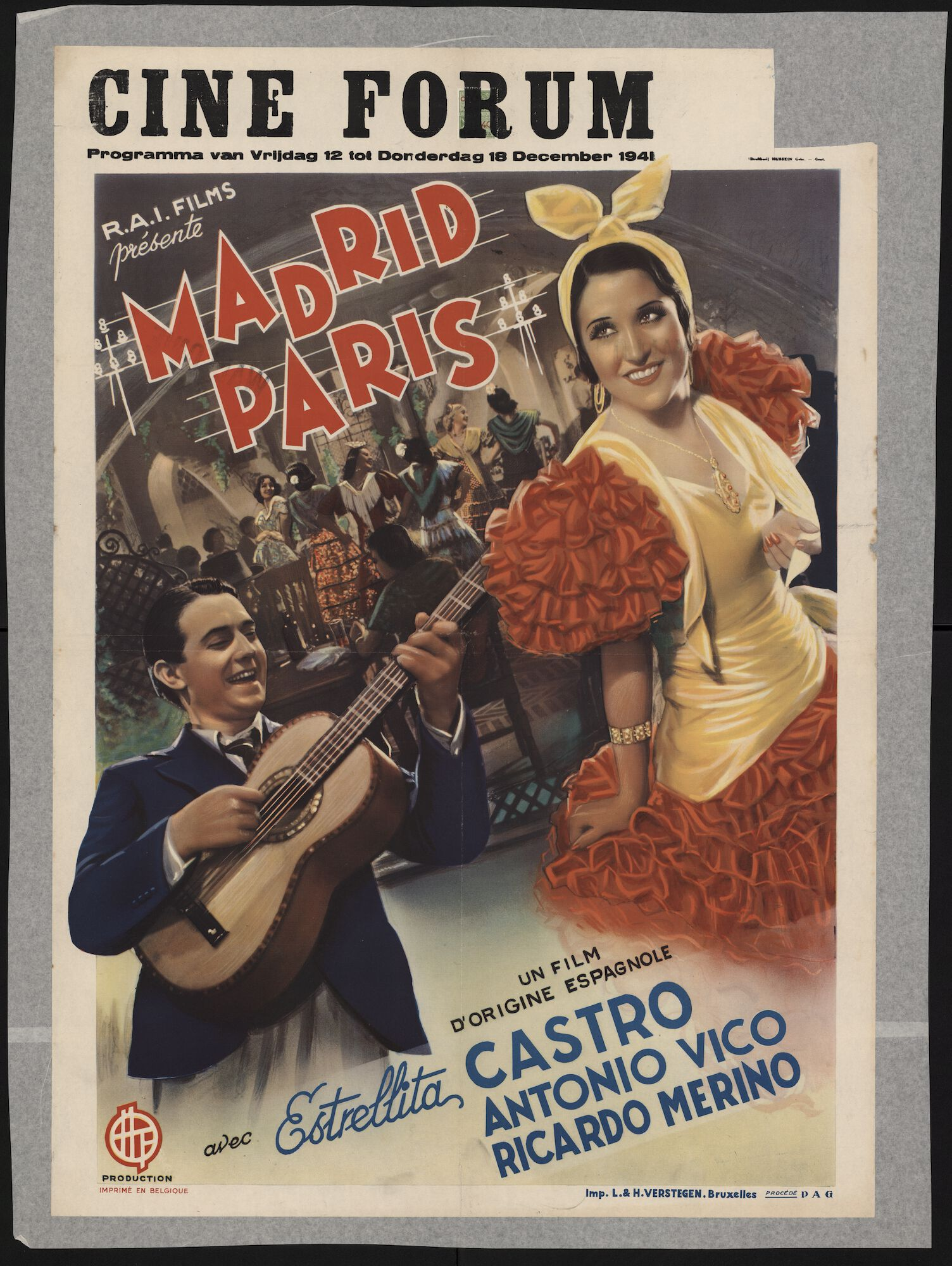 Madrid Paris, Ciné Forum, Gent, 12 - 18 december 1941