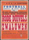 Footbal: Rode Duivels tegen-contre Zwaluwen, 2 Grote Internationale wedstrijden - 2 Grandes Matchs Internationaux, Stadion Jules Otten, A.R.A. La Gantoise, Gentbrugge (Arsenaal), Dinsdag - mardi 2 maart - mars 1954