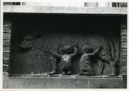 Gent: Wolfstraat 9: Beeldhouwwerk, 1980