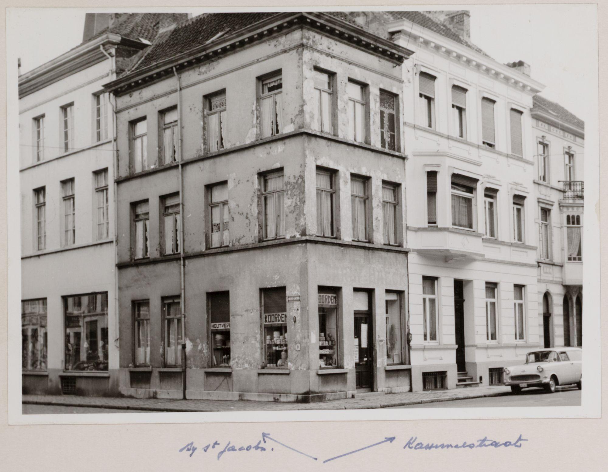 Gent: Kammerstraat, Bij Sint-Jacobs
