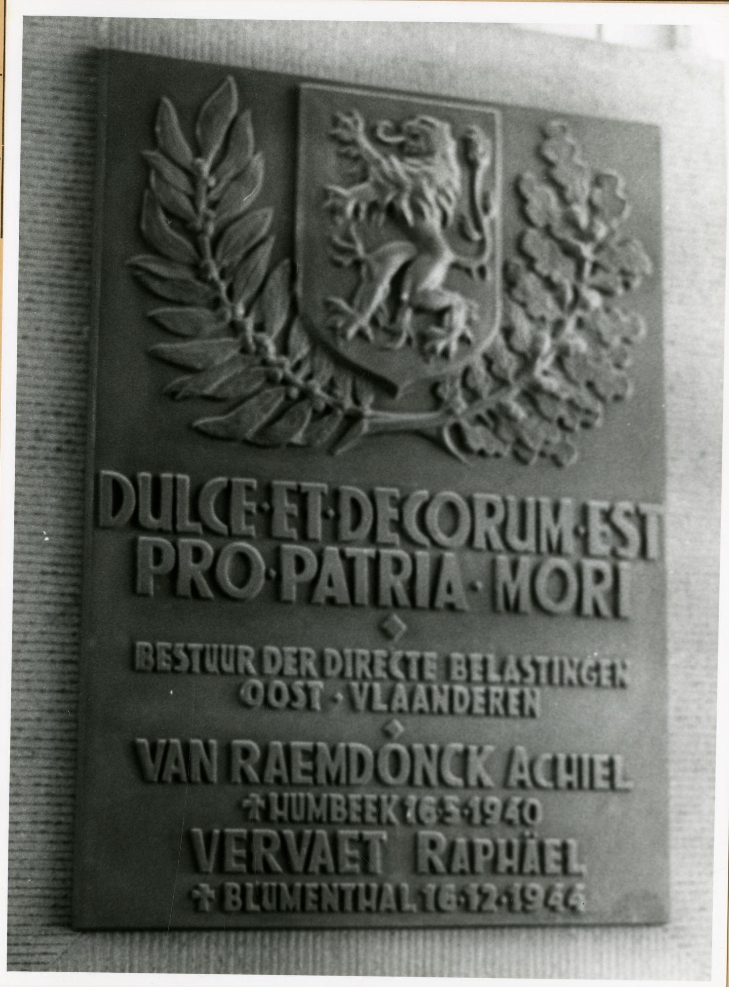 Gent: Jan-Baptist Guinardstraat 1: Gedenkplaat, 1979
