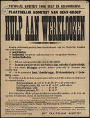 Nationaal Komiteit voor Hulp en Bevoorrading, Plaatselijk Komiteit van Gent-Groep, Hulp aan werkloozen.