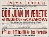 Don Juan in Venetië of de liefde van Cassanova (film 1), Pat en Patachon in het paradijs (film 2), Cinema Leopold, Gent, 23 - 29 september 1949