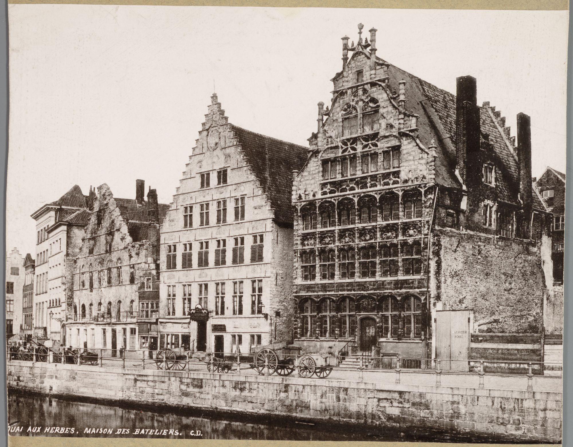 Gent: Korenmetershuis en Schippershuis, Graslei