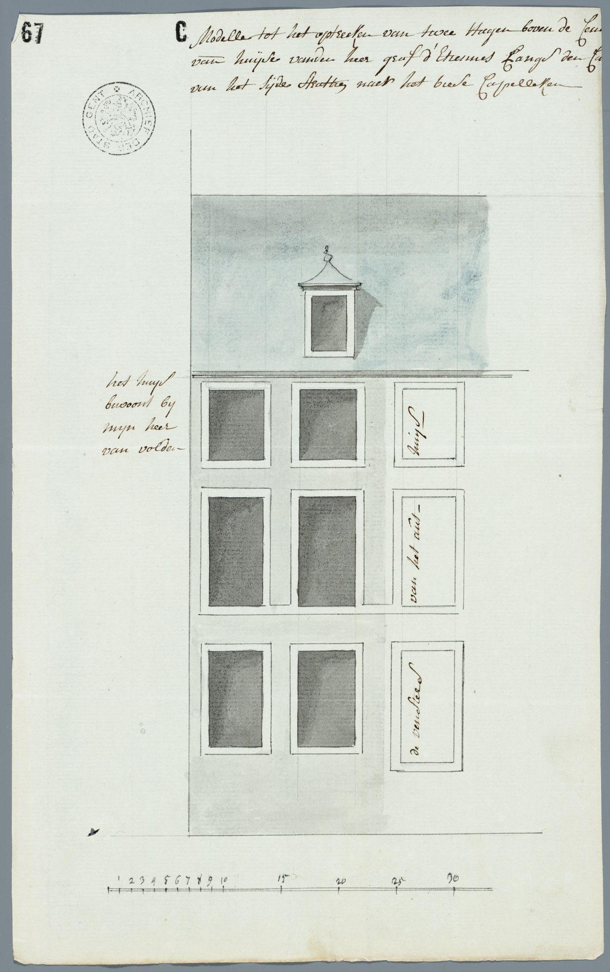 Gent: Hoogpoort, 1776: opstand gevel