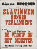 Slavinnen hunner verlangens (film 1 ), De vrouw en het monster (film 2), Cinema Leopold, Gent, oktober 1949