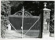 Gent: Houtstraat: Gietijzeren hekken, 1979