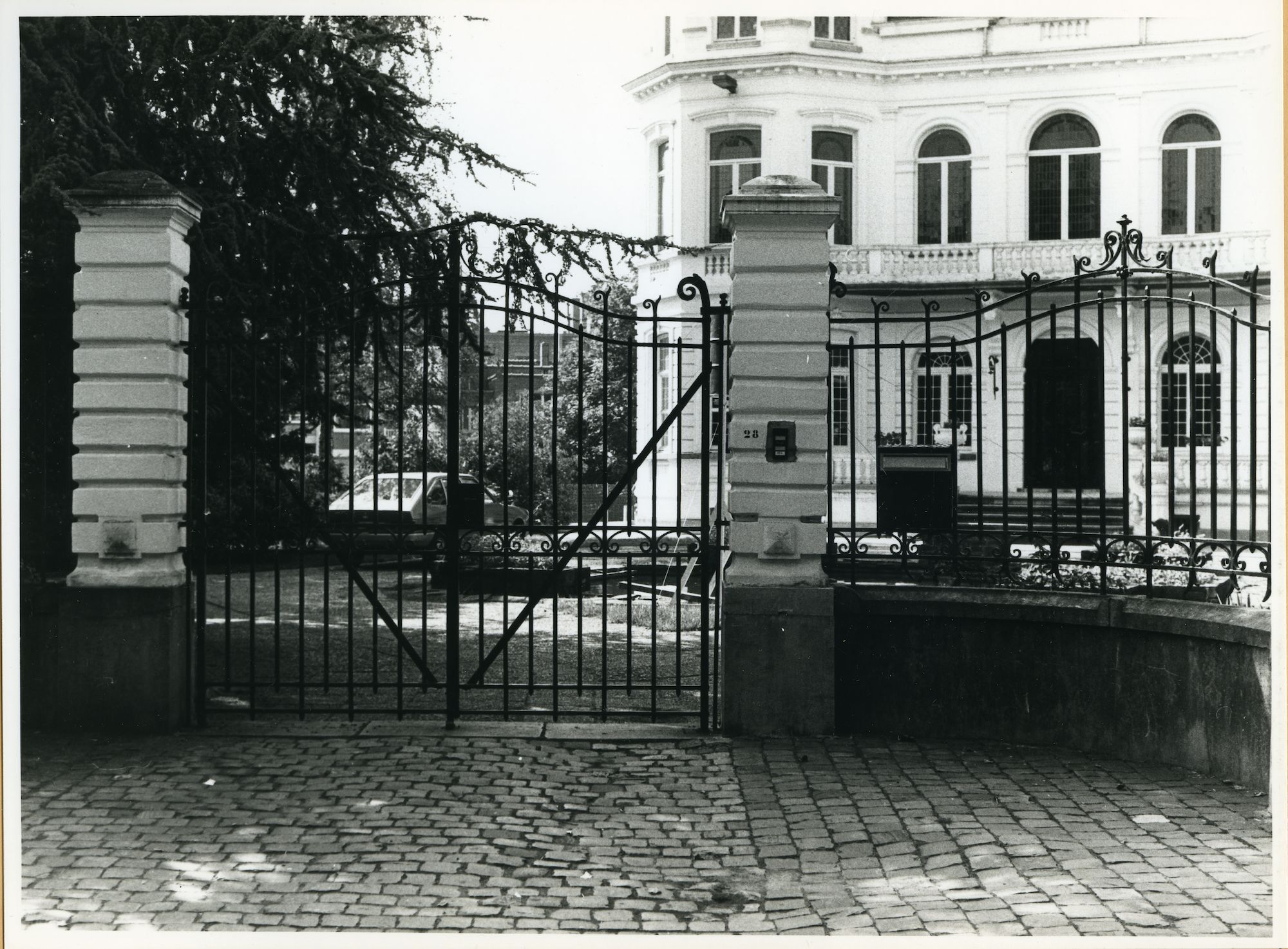 Gent: Mussenstraat 28: Hek, 1979