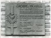 Gent: Staakskenstraat: Gedenkplaat W.O. II, 1979
