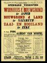 Openbare verkoop van woonhuis  & bouwgrond te Asper, bouwgrond & land te Nazareth, zaai- en hooiland te Eeke (Eke), Gent,  9 juli 1948