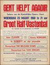 Gent helpt Agadir. Groot Half-Vastenbal, Koninklijke Opera, Gent, 23 maart1960