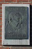 """Gedenkplaat - """"John Flanders"""" (Jean Ray)"""