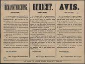 Bekanntmachung | Bericht | Avis.