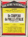 Un chapeau de paille d'Italie, Eugène Labiche. Opéra Royal de Gand (Koninklijke Opera Gent), Gent, 23 november 1959
