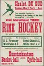 Rink Hockey, Groot Internationaal Tornooi, alsook: Kunstschaatsen, Basket-ball, Cyclo-ball, Chalet Du Sud, Koning Albert Park Gent, zaterdag 18 en zondag 19 juli 1953