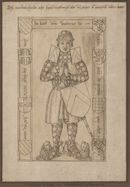 Gent: Jacobijnenstraat: Dominicanenkerk (nu verdwenen): grafplaat van Walter van Herzele (+1331), heer van Herzele, voor 1578
