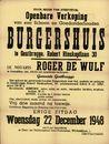 Openbare verkoop van een schoon en goedonderhouden burgershuis te Gentbrugge, Robert Rinskopflaan, nr.30, Gent, 22 december 1948