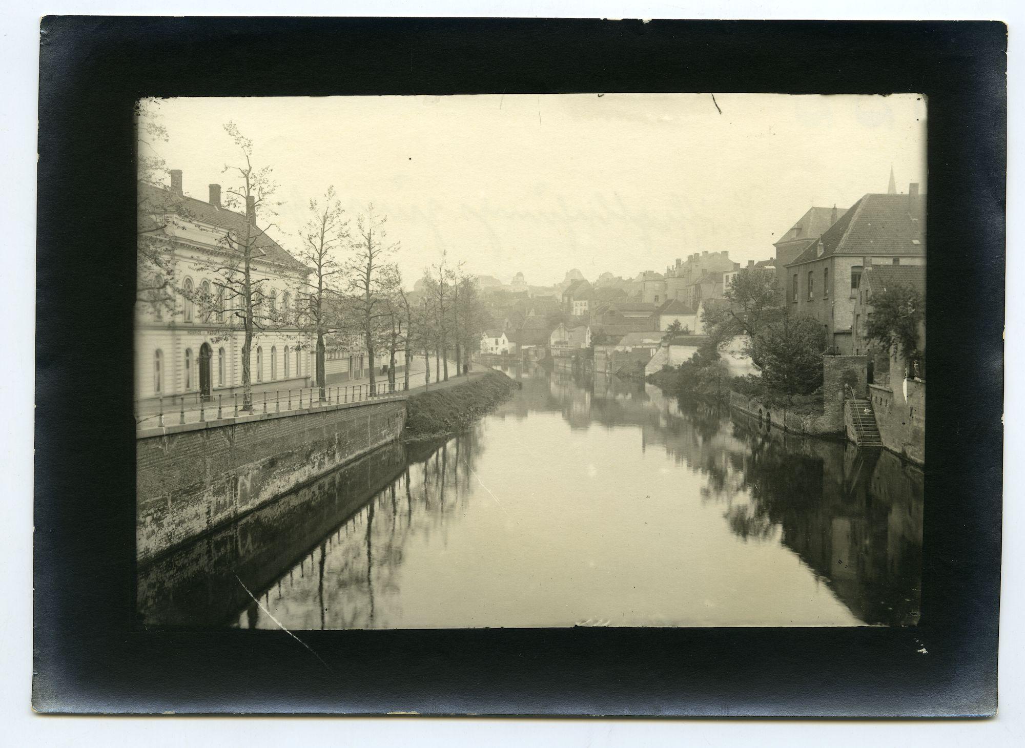 Gent: de Leie aan de Bijlokekaai, 1915-1916