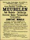 Grote openbare verkoop van meubelen, Gent, 20 juni 1949