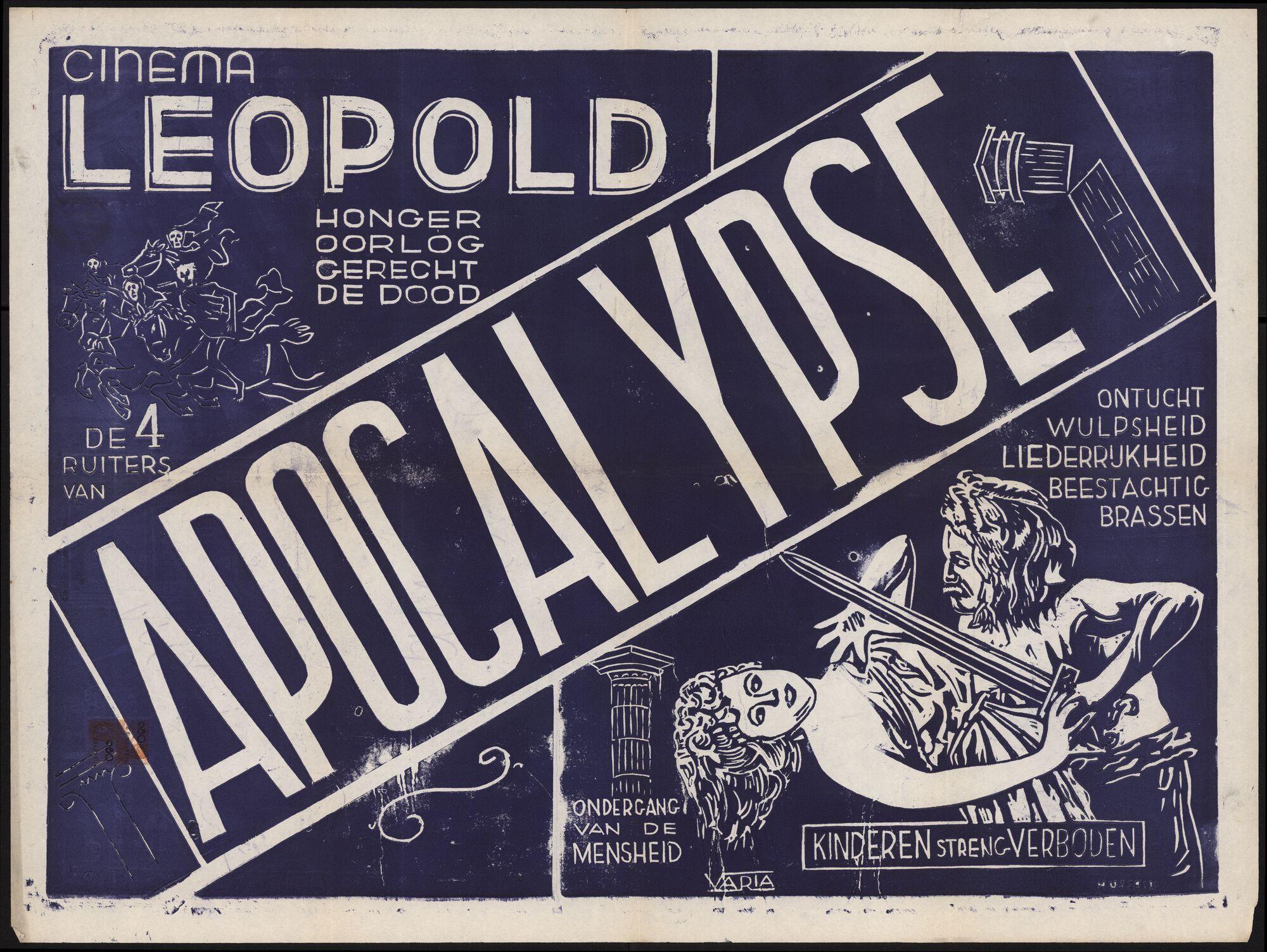 De 4 ruiters van apocalypse, Cinema Leopold, Gent, februari 1950