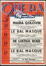 Maria Golovin, G.C. Menotti. La Bal Masqué, G. Verdi. De Lustige Boer, L. Fall. Koninklijke Opera Gent, Gent, 23 maart - 30 maart 1960