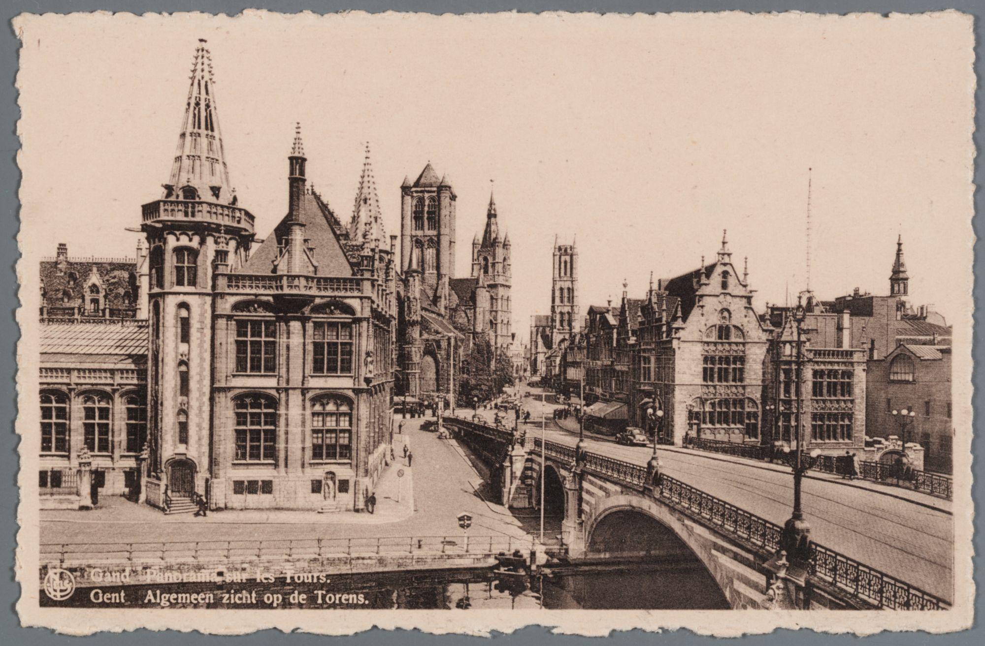 Gent: Sint-Michielsbrug met zicht op de drie torens
