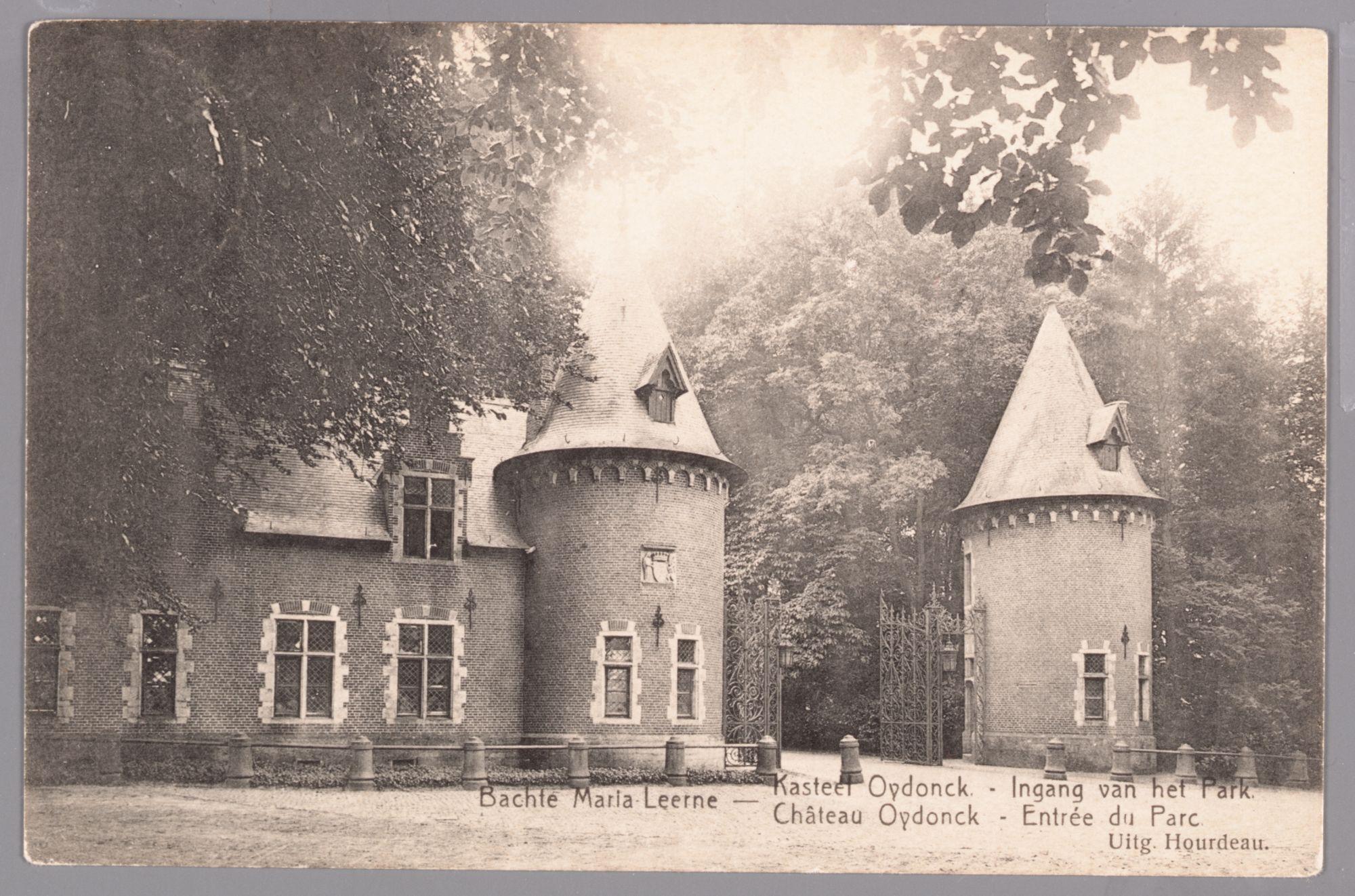 Sint-Maria-Leerne: kasteel van Ooidonk: ingang van het park