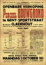 Openbare verkoop perceel bouwgrond te Gent, Sportstraat, Gent, 31 oktober 1960