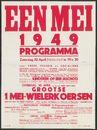 Eén mei 1949. Programma. Grootse 1 Mei-Wielerkoersen, Gent, 30 april 1949
