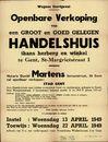 Openbare verkoop van een groot en goed gelegen handelshuis, thans herberg en winkel te Gent, Sint-Margrietstraat, nr.1, Gent, 27 april 1949