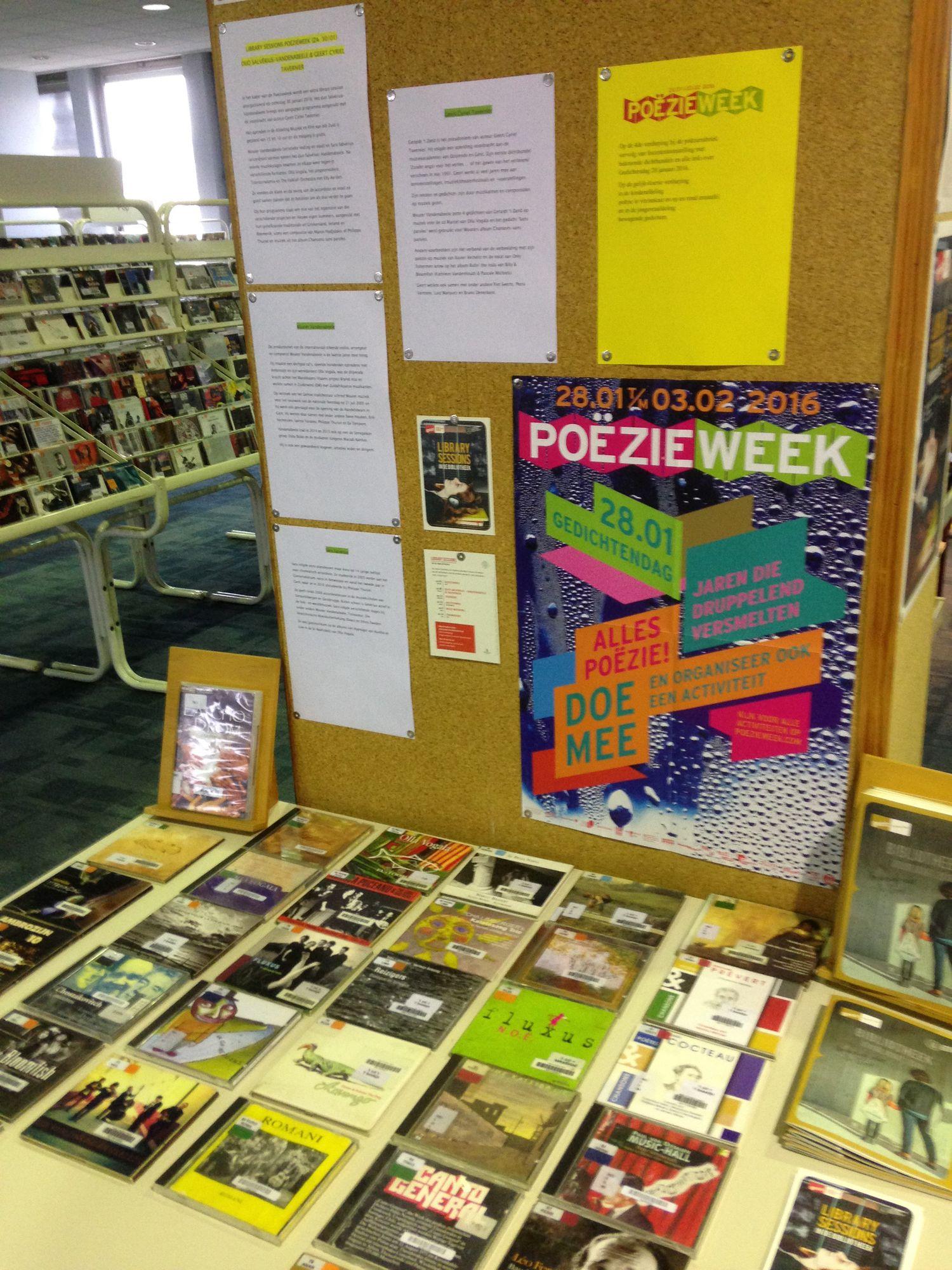 Poëziemaand 2016 in de bibliotheek