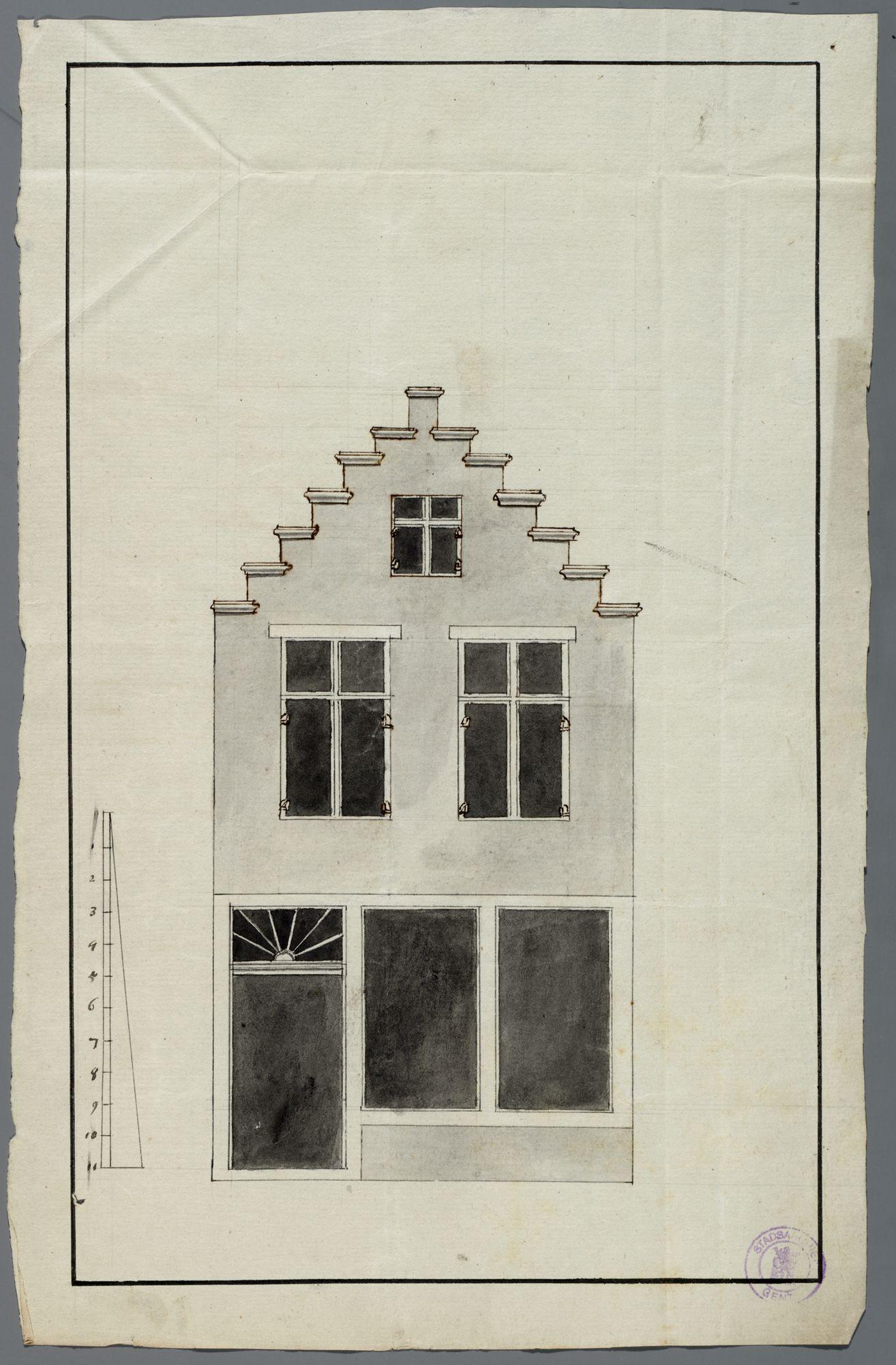 Gent: Peperstraat, 1776: opstand gevel