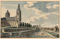 Gent: Muinkschelde en Sint-Pietersabdij, 1820