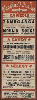 Waarheen? Où aller? Filmvertoningen in Capitole, Savoy, Select, Gent, 3 - 9 mei 1940