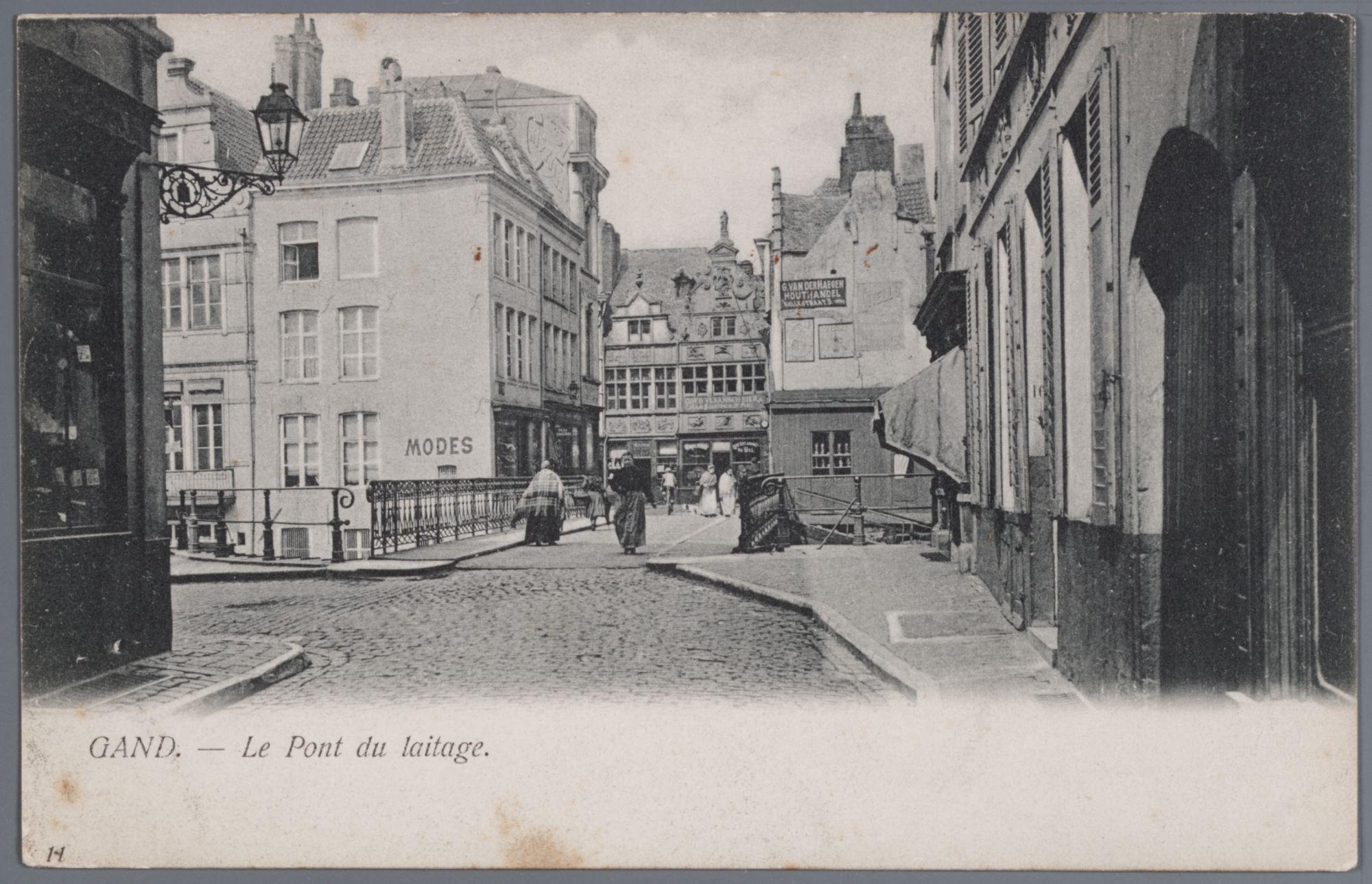 Gent: Zuivelbrug gezien vanuit de Meerseniersstraat