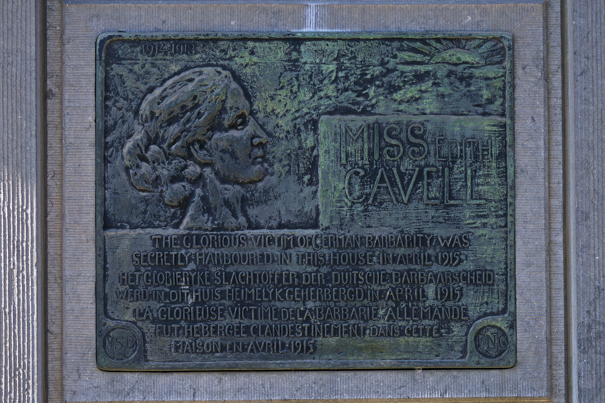 Gedenkplaat - Edith Cavell