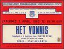Het Vonnis, Claude Spaak. Koninlijke Nederlandse Schouwburg, Gent, 2 april 1960