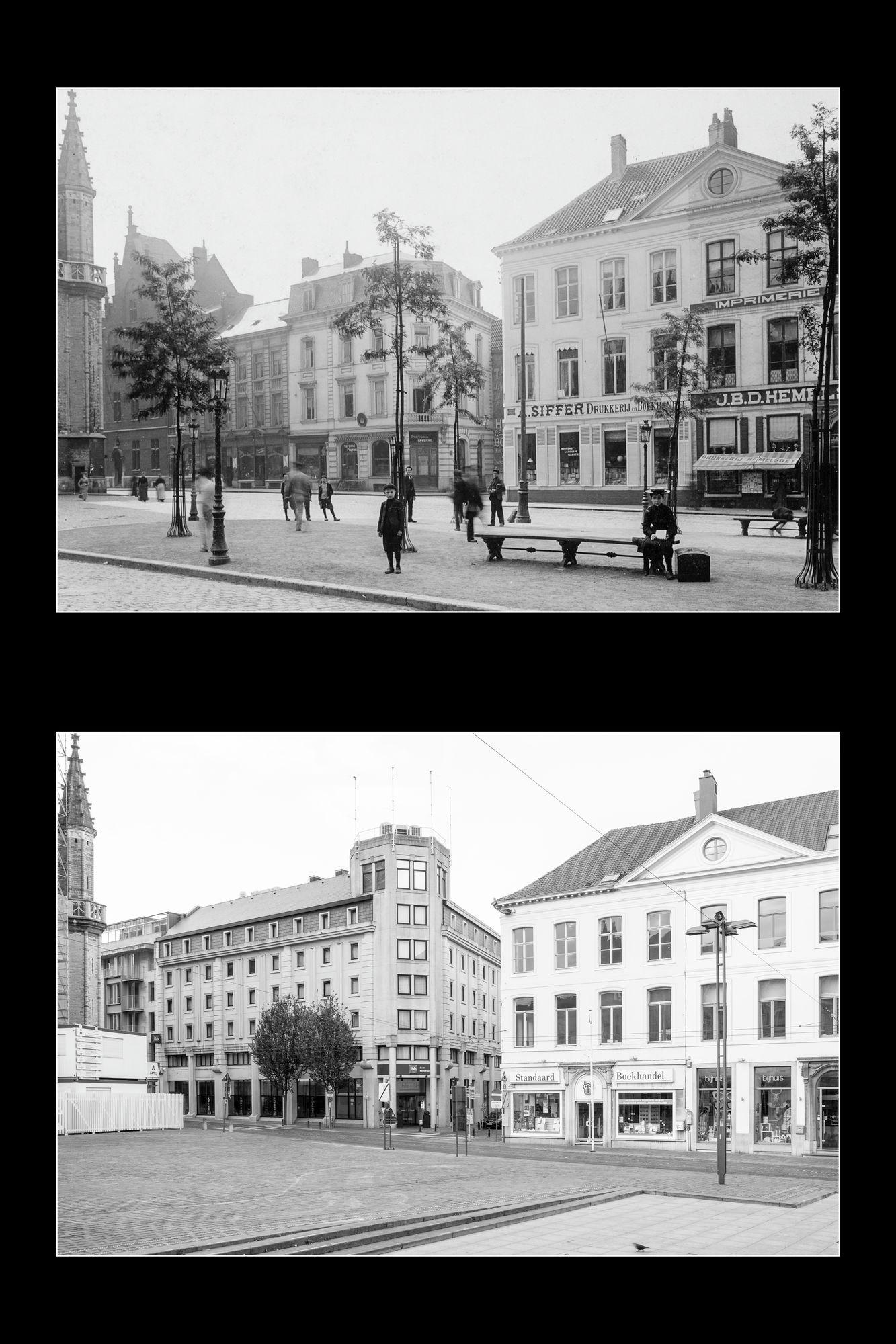 Gent: Sint-Baafsplein, hoek Lange Kruisstraat en Limburgstraat