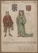 Gent: Sint-Pietersplein: kerk van de Sint-Pietersabdij: Onze-Lieve-Vrouwkapel: schilderij met de portretten van graaf Boudewijn II de Kale (c.865-918) en gravin Ælfthryth van Wessex (868-929), voor 1580