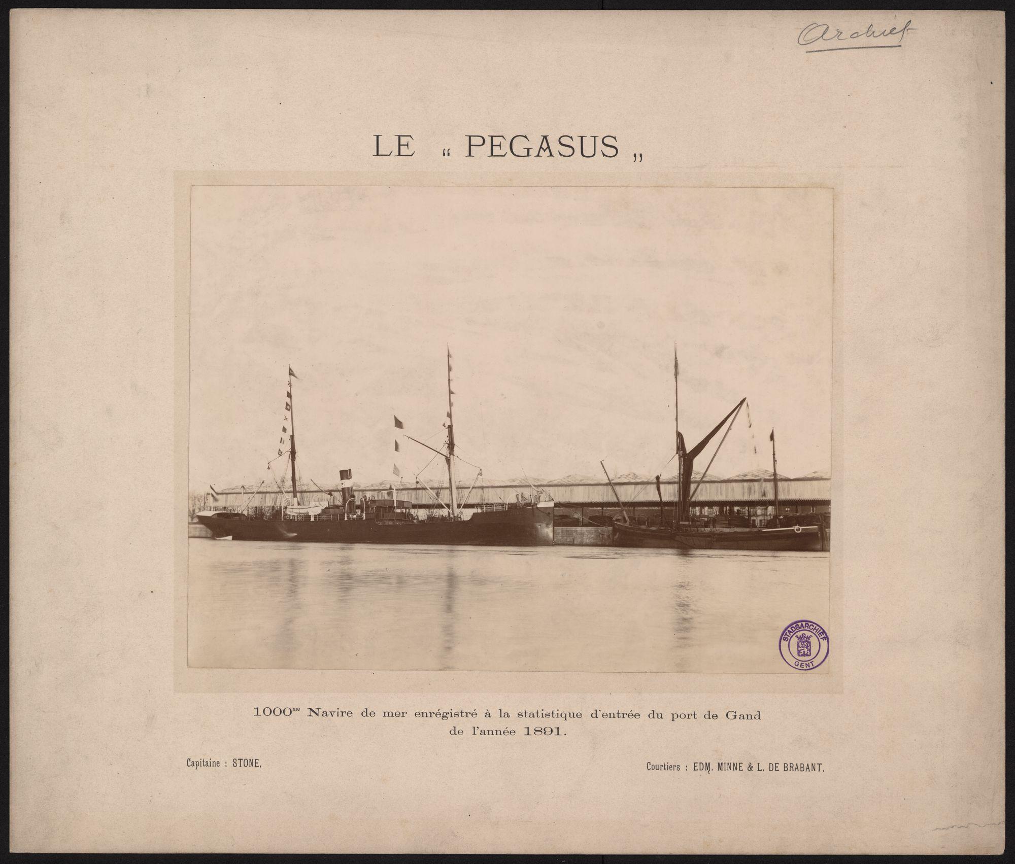 """Gent: Schip de"""" Pegasus"""" 1000 ste schip in de Gentse zeehaven"""