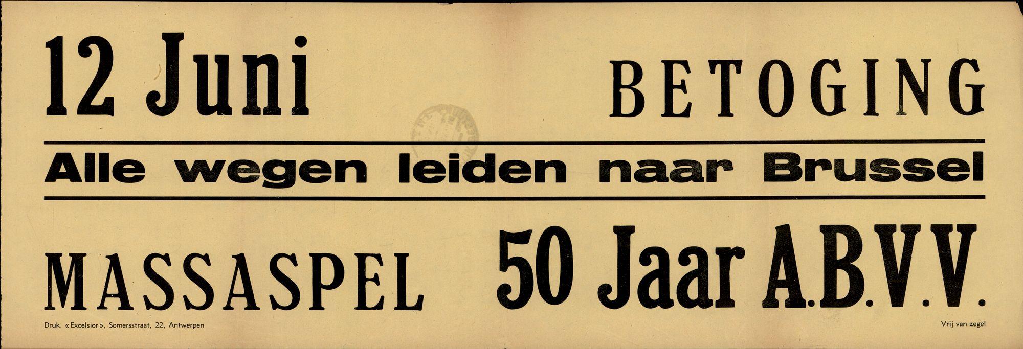 50 jaar A.B.V.V. 12 juni betoging. 1949