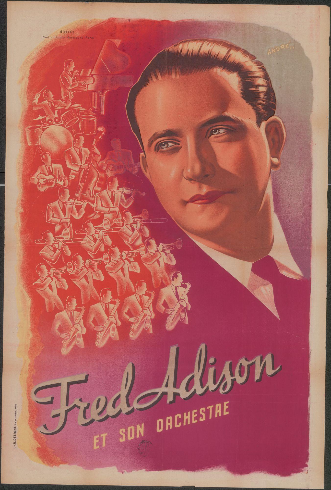 Fred Adison et son orchestre, 1947