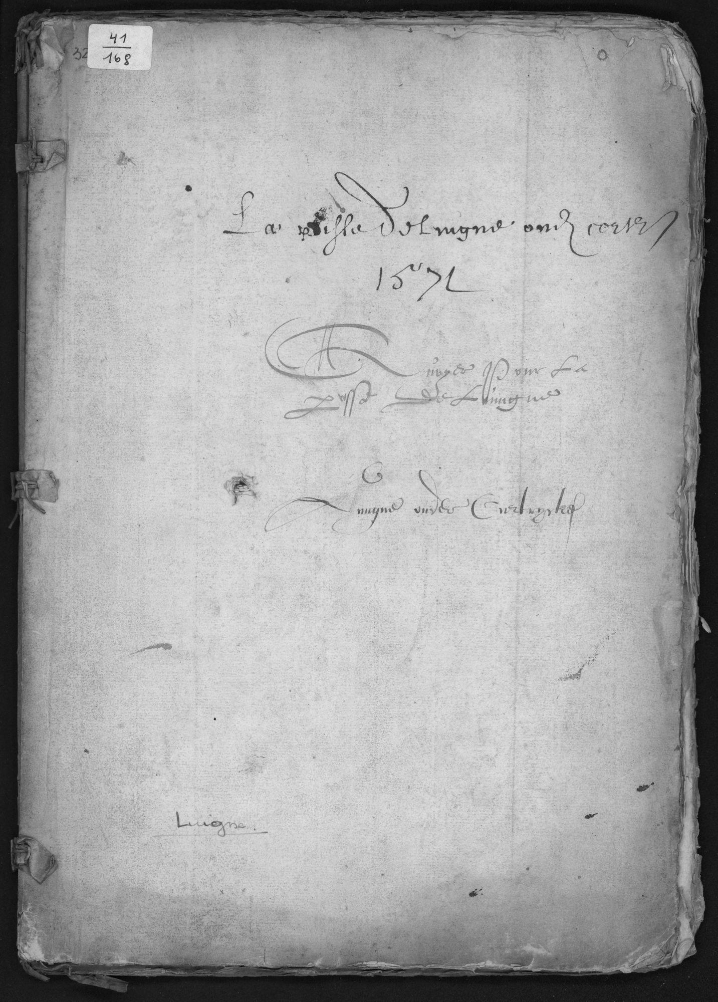 Kohier van de 20ste penning in Luingne (Lowingen) (kasselrij van Kortrijk), 1571