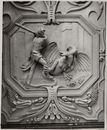 Gent: Onderbergen 36-38, hoek Zwartezustersstraat: Brouwershuis: plafonddecoraties, Jan Hansche, 1673