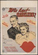 Wie kust Madeleine?, [Capitool], Gent, november 1941